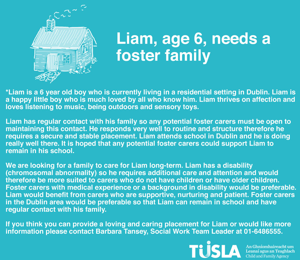 liam child and family agency liam s has been changed to protect his identity